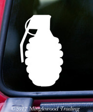 "HAND GRENADE Vinyl Decal Sticker 5"" x 3"" Mk 2 Pineapple Frag MKII"