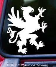 "HERALDIC GRIFFIN v2 Vinyl Decal Sticker 7"" x 6"" Coat of Arms Heraldry Griffon Gryphon"