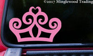 "TIARA PRINCESS CROWN Vinyl Decal Sticker 5"" x 3.5"" Queen"