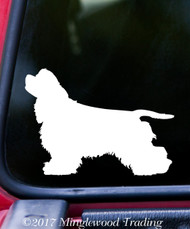 "COCKER SPANIEL Vinyl Decal Sticker 5"" x 3.5"" Cockers Dog"