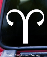 "ARIES Vinyl Decal Sticker 5"" x 4.5"" Astrology Zodiac Sign Fire Ram"