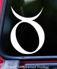 "TAURUS Vinyl Decal Sticker 5"" x 3.5"" Astrology Zodiac Sign Earth The Bull"