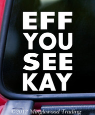 "EFF YOU SEE KAY Vinyl Decal Sticker 5"" x 3"" F*CK 4-Letter Word"