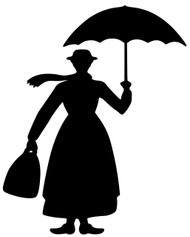 "Mary Poppins Vinyl Decal Sticker - English Nanny Julie Andrews 4"" x 3"""