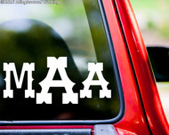 "Custom MONOGRAM Vinyl Decal Sticker 8"" x 3.5"" WESTERN"
