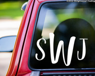 "Custom MONOGRAM Vinyl Decal Sticker 11"" x 7"" SWEET PEA Personalized"