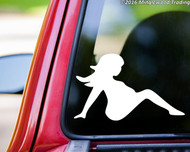 "Mudflap Pregnant Girl - Vinyl Decal Sticker Trucker Lady Woman Country 5"" x 3.5"""