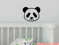 "PANDA FACE Vinyl Decal Sticker 5"" x 4"" Bear Giant Red - Kid's Room Baby"
