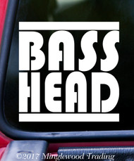 "BASS HEAD v1 Vinyl Decal Sticker 5"" x 5"" EDM Music Basshead Headbanger"