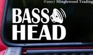 "BASS HEAD v3 Vinyl Decal Sticker 7.5"" x 4.5"" EDM Music Speaker Basshead Headbanger"