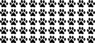 "PAWPRINTS - 50 2"" Vinyl Decal Stickers Dog Cat Puppy Kitten"