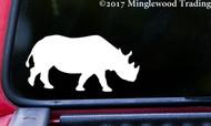 """RHINO Vinyl Decal Sticker 5"""" x 2.5"""" Rhinoceros Africa Animal Horn"""