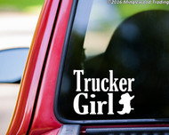 "TRUCKER GIRL Vinyl Decal Sticker 7.5"" x 5.5"" Country Cowgirl Redneck"