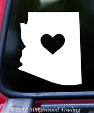 "ARIZONA HEART State Vinyl Decal Sticker 6"" x 5"" Love"