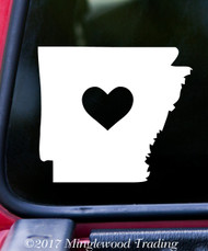 "ARKANSAS HEART State Vinyl Decal Sticker 6"" x 5.25"" Love AR"