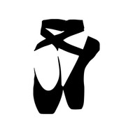BALLET SHOES Vinyl Decal Sticker - Ballerina Pointe Dance Slippers