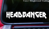 "HEADBANGER v2 Vinyl Decal Sticker 11.5"" x 2"" Heavy Metal Hard Rock"