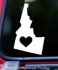 "IDAHO HEART State Vinyl Decal Sticker 6"" x 3.5"" Love ID"