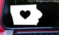"IOWA HEART State Vinyl Decal Sticker 6"" x 4"" Love IA"