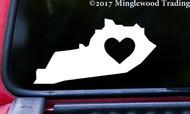 """KENTUCKY HEART State Vinyl Decal Sticker 6"""" x 3"""" Love KY"""