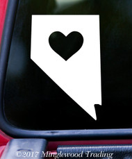 "NEVADA HEART State Vinyl Decal Sticker 6"" x 4"" Love NV"