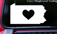 "PENNSYLVANIA HEART State Vinyl Decal Sticker 6"" x 3.5"" Love PA"