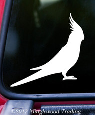 "COCKATIEL 5"" x 5"" Vinyl Decal Sticker - Tropical Bird - Cockatoo Parrot"