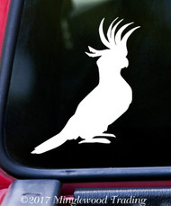 "COCKATOO  5"" x 4"" Vinyl Decal Sticker - Tropical Bird - Cockatiel Parrot"