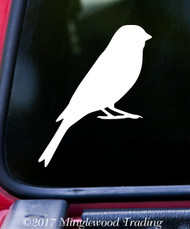 "CANARY 5"" x 4"" Vinyl Decal Sticker - FINCH - Atlantic Yellow Songbird"
