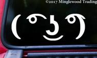 "LENNY FACE 5.5"" x 2"" Vinyl Decal Sticker - Emoticon Meme Smile Le Face"