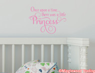 "Once Upon a Time There Was a Little Princess 13"" x 9.5"" Vinyl Decal Sticker"