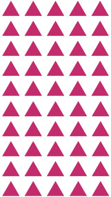 "TRIANGLES - 50 1"" Vinyl Decal Stickers - Classroom Decorations Home Decor"