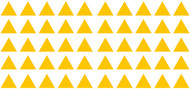 "TRIANGLES - 50 2"" Vinyl Decal Stickers - Classroom Decorations Home Decor"