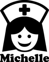 nurse 5 x 5 25 v2 vinyl decal sticker er or rn lpn nursing Emergency Room RN nurse with personalized name 5 x 6 25 v2 vinyl decal sticker