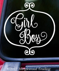"GIRL BOSS 7"" x 7"" Vinyl Decal Sticker - Feminism Girl Power"