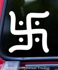 "HINDU SWASTIKA 5"" x 5"" Vinyl Decal Sticker - Buddhism Jainism Hinduism"