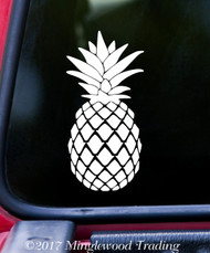 "PINEAPPLE  5"" x 2.5"" Vinyl Decal Sticker - Ananas Trees Tropical Fruit"