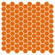 "Hexagons (120) 1"" Vinyl Decal Stickers - Hexagon Polygon 6 Decor Accent"
