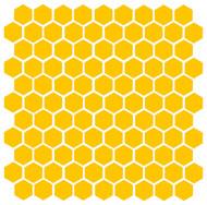 "Honeycomb (104) 1"" Vinyl Decal Stickers - Bee Honey Home Accent Geometric"