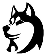 "SIBERIAN HUSKY HEAD 5"" x 4"" Vinyl Decal Sticker - Spitz Sibe Chuksha"