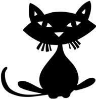 "Cat - Feline Kitty Halloween Black Cat Vinyl Decal Sticker - 5"" x 5"""