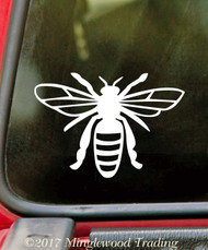 BEE Vinyl Sticker - Honey Hive Honeybee Bumblebee Wasp Hornet Flying - Die Cut Decal