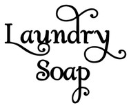 "LAUNDRY SOAP 5"" x 4"" Vinyl Decal Sticker - Laundry Room - Washer  - 20 COLOR OPTIONS"