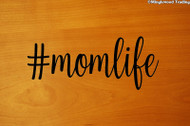 "#momlife 5"" x 2"" BLACK Vinyl Decal Sticker - Mom Life Mother Kids Children Family"