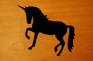 "UNICORN 6"" x 5.25"" BLACK Vinyl Decal Sticker - Horse Mythology Fantasy"
