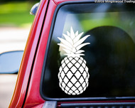 "PINEAPPLE  11"" x 5.5"" Vinyl Decal Sticker - Ananas Trees Tropical Fruit"