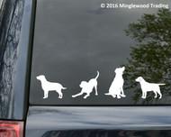 set of 4 LABRADOR RETRIEVER DOG Vinyl Decal Stickers