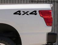 pair 4X4 Vinyl Stickers -V1- 4 by 4 Off Road 4 x 4 Truck 4 Wheel Drive - Die Cut Decals