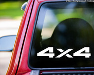 """pair 4X4 11.5"""" x 2.25"""" V1 Vinyl Decal Stickers - 4 by 4 Off Road 4 x 4 Truck 4 Wheel Drive FREE SHIPPING"""