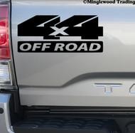 pair 4X4 OFF ROAD Vinyl Stickers -V5- 4 by 4 Truck 4 x 4 4-Wheel Drive - Die Cut Decals